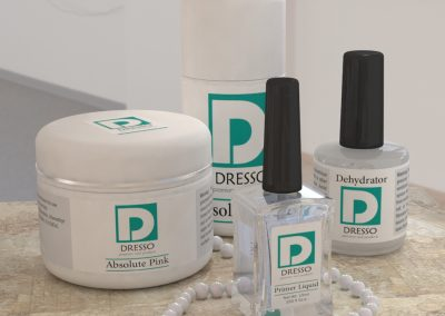 طراحی لوگو و لیبل محصولات درسو (Dresso)