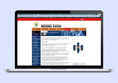 طراحی وب سایت رژین صنعت