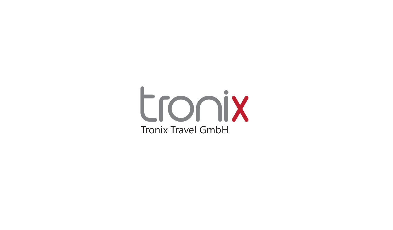 tronix travel logo and branding